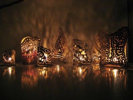 Porta lumi creati da Florio Pozza